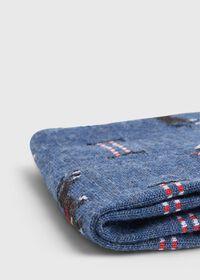 Racing Horse Motif Wool Sock, thumbnail 2