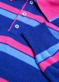 Cashmere Double Collar Stripe Polo, thumbnail 2