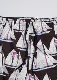 Printed Sail Boat Swim Trunks, thumbnail 3
