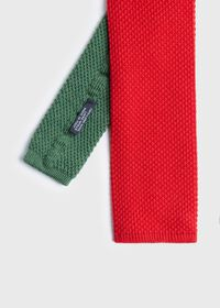 Two Tone Knit  Wool Tie, thumbnail 1