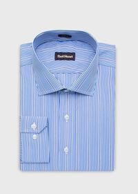 Slim Fit Cotton Striped Dress Shirt, thumbnail 2