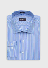 Slim Fit Cotton Striped Dress Shirt, thumbnail 1