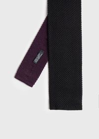 Two Tone Knit  Wool Tie, thumbnail 1
