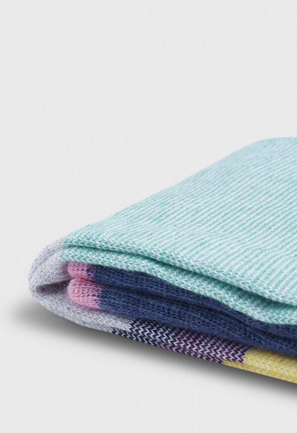 Melange Color Block Crew Sock, image 2