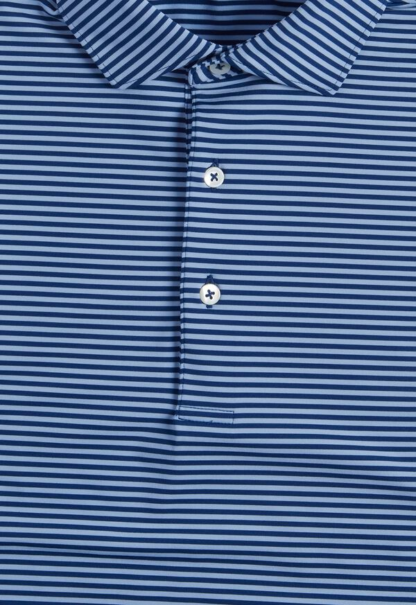 Two Color Stripe Performance Polo, image 2