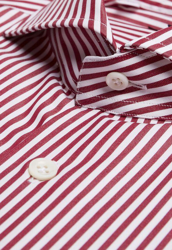 Cotton Stripe Collar Dress Shirt, image 2
