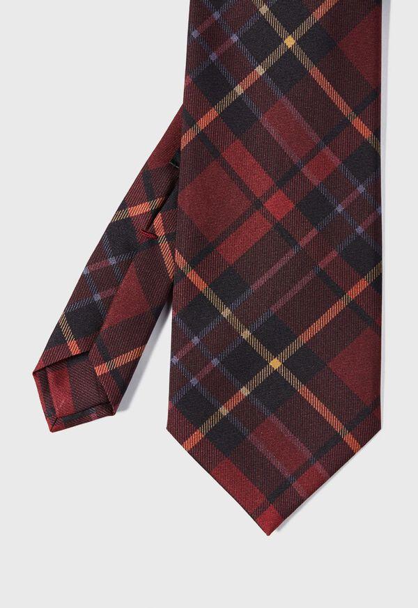 Silk Tartan Print Tie, image 1
