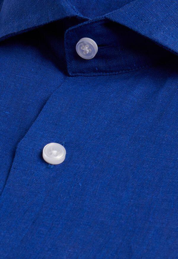 Solid Linen Sport Shirt, image 2