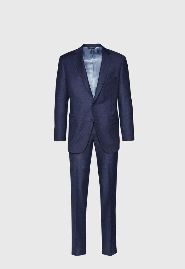 Mid Blue Solid Flannel Paul Fit Suit, image 1