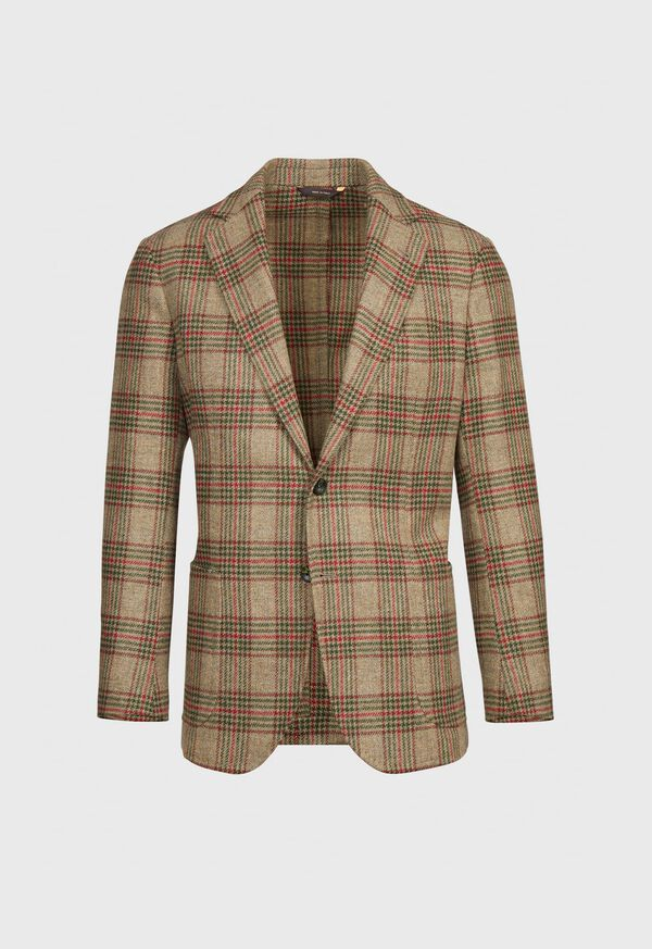 Plaid Wool Soft Constructed Jacket