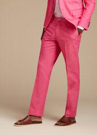 Pink Cotton Blend Denim Pant, thumbnail 2