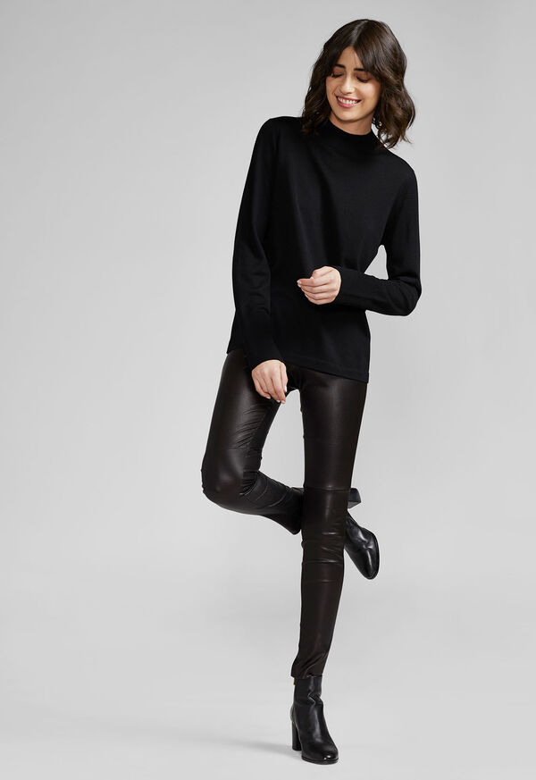 Stretch Leather Legging, image 4