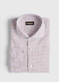 Linen Two Color Tattersall Sport Shirt, thumbnail 1
