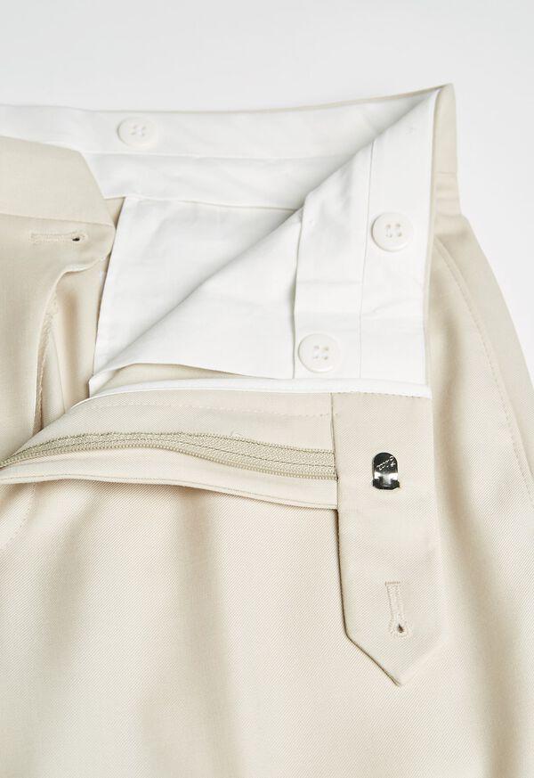 Super 110s Wool Tan Trouser, image 2