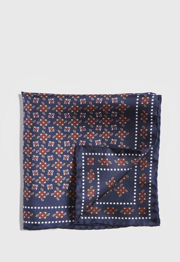 Vintage Silk Pocket Square, image 1