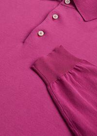 Long Sleeve Cotton Polo Shirt, thumbnail 4
