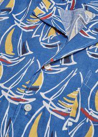 Linen Boat Print Shirt, thumbnail 2