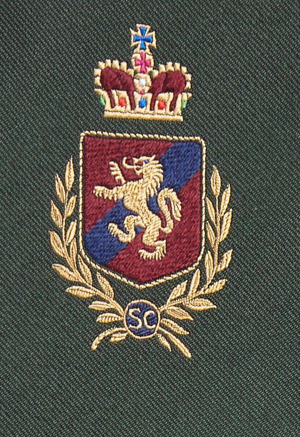 Crest Motif Silk Tie, image 4