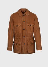 Garment Washed Cashmere Safari Jacket, thumbnail 1