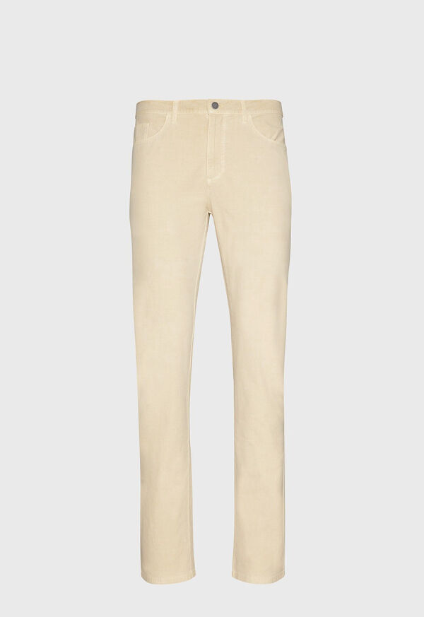 Stretch Cotton and Modal 5-Pocket Trouser, image 1