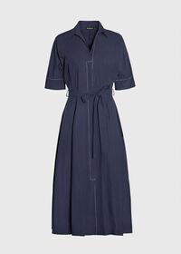 Belted Shirt Dress, thumbnail 1