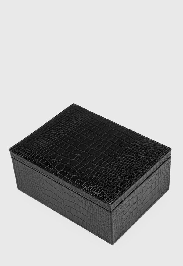 Embossed Leather Jewelry Box, image 1