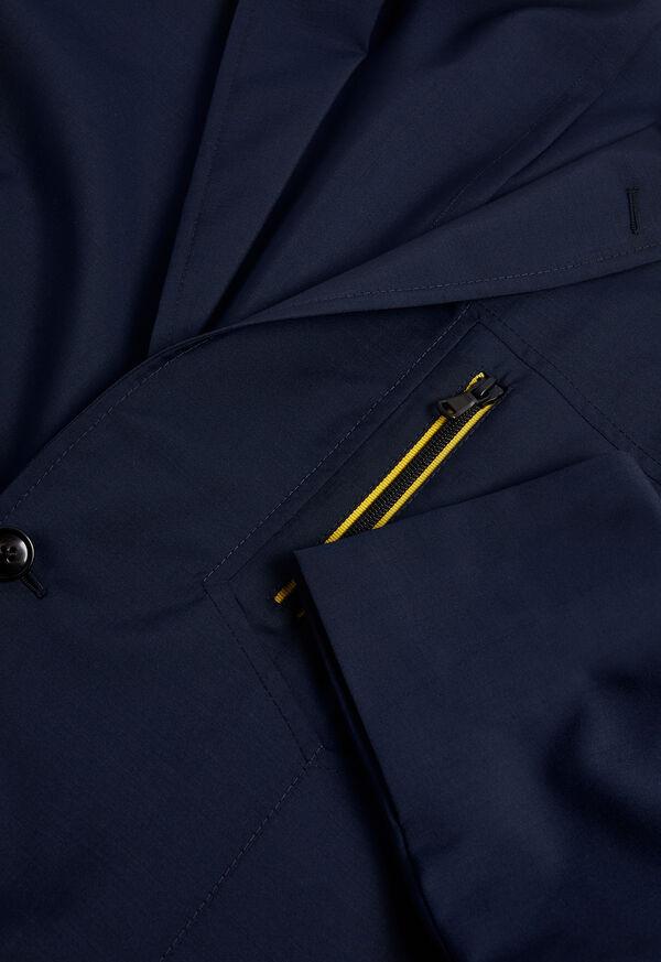 Navy Wool Blend Sport Jacket, image 2