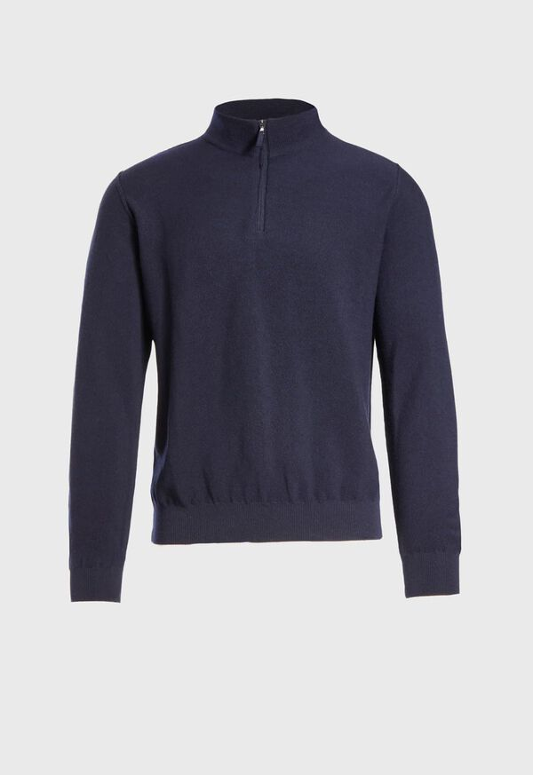 Rice Stitch Quarter Zip Sweater, image 1