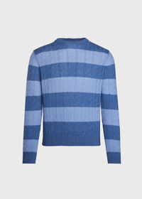 Cable Knit Crew Neck Sweater, thumbnail 1