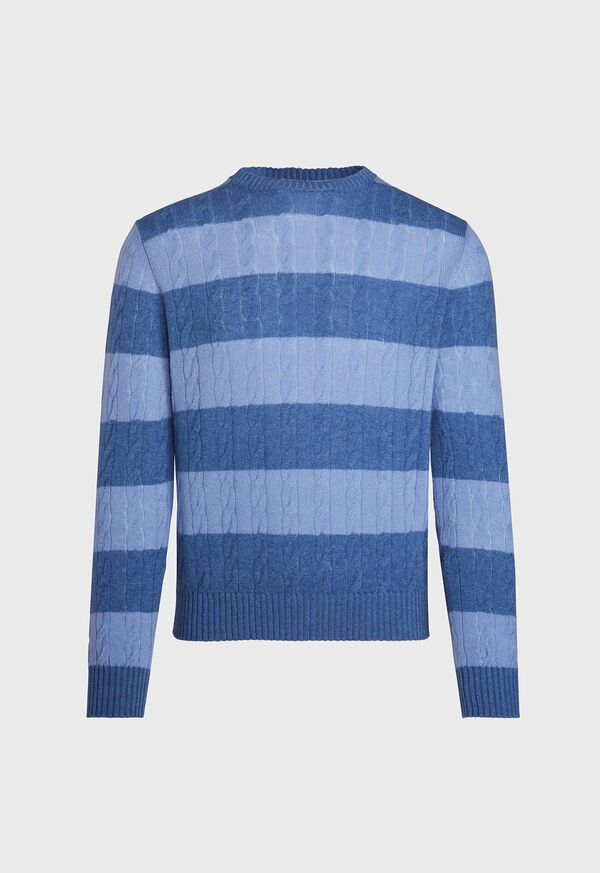 Cable Knit Crew Neck Sweater, image 1