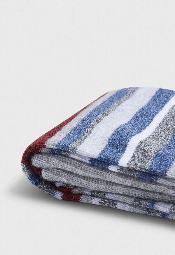 Melange Fine Stripe Crew Sock, image 2