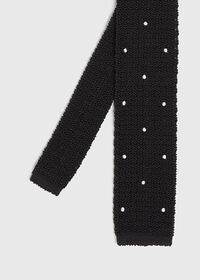 Embroidered Knit Tie, thumbnail 1