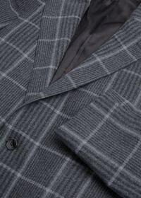 Grey Plaid Wool Sport Jacket, thumbnail 3