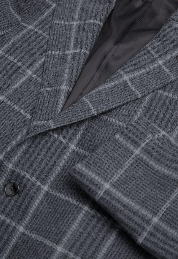 Grey Plaid Wool Sport Jacket, image 3