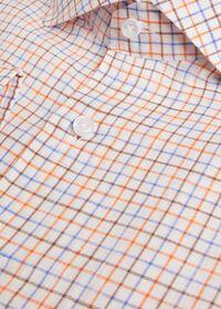 Linen Two Color Tattersall Sport Shirt, thumbnail 2