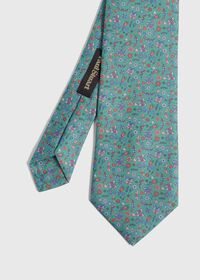 Floral Butterfly Print Tie, thumbnail 1
