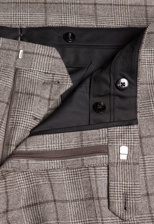 Wool Plaid Classic Shoulder Suit, image 7