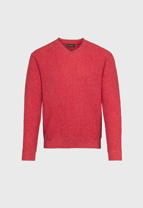 Classic Alpaca Links V-Neck Sweater, image 1