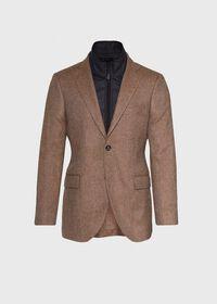 Cashmere Tan Melange Vest Jacket, thumbnail 1