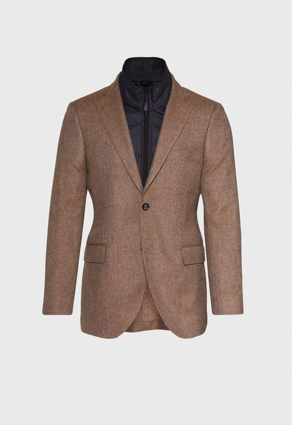 Cashmere Tan Melange Vest Jacket