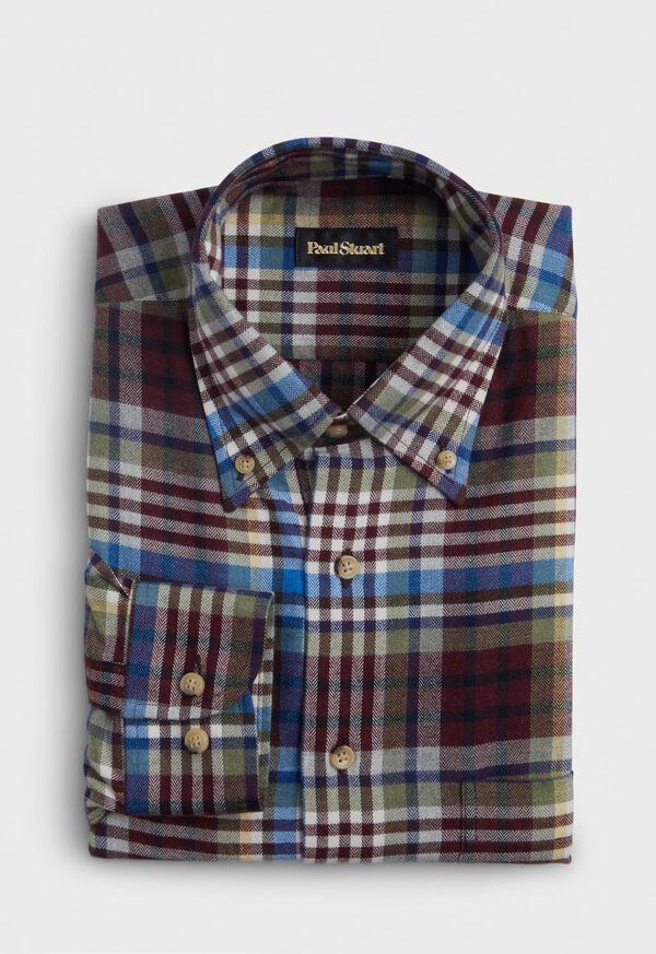 Cotton Plaid Flannel Sport Shirt