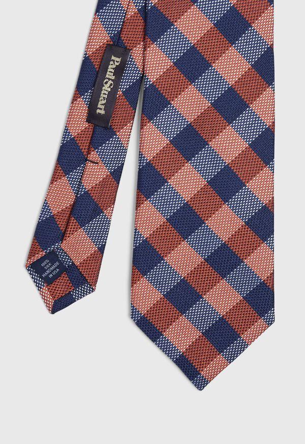 Oxford Check Silk Tie, image 1