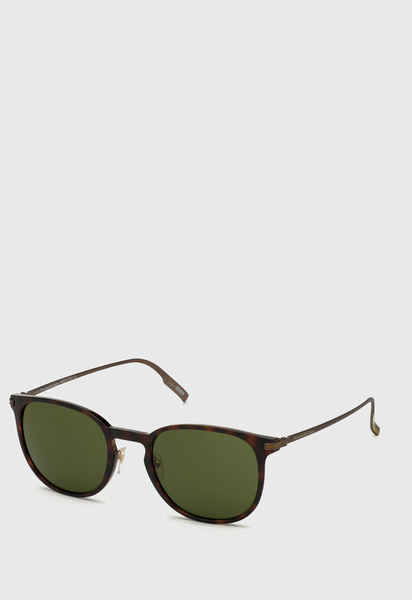 Ermenegildo Zegna Dark Havana Sunglasses, image 1