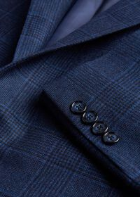 Navy Plaid Sport Jacket, thumbnail 2