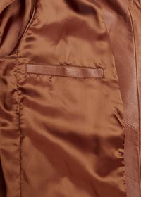 Solid Brown Napa Shirt Jacket, thumbnail 3