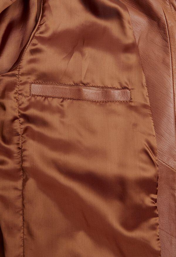 Solid Brown Napa Shirt Jacket, image 3
