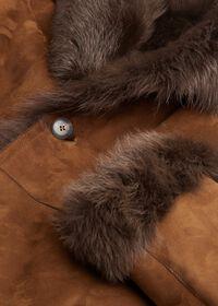 Leather Brown Long Coat, thumbnail 4