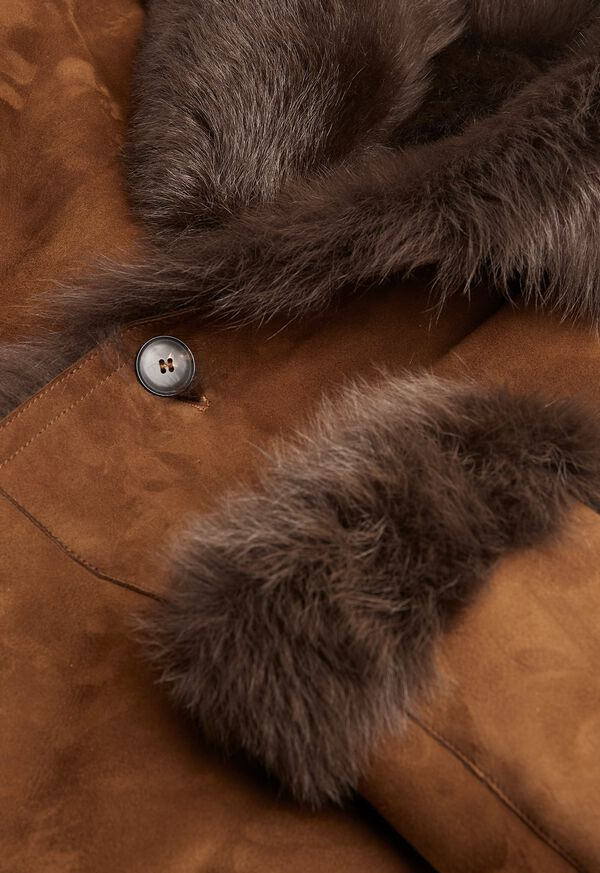 Leather Brown Long Coat, image 4