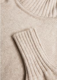 Cashmere Cropped Turtleneck Sweater, thumbnail 6