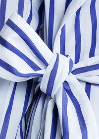 Awning Stripe Cotton Robe, thumbnail 5